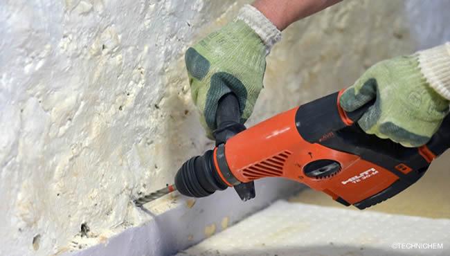 Hydrofuges Par Injection Pour Murs Humides Mise En œuvre