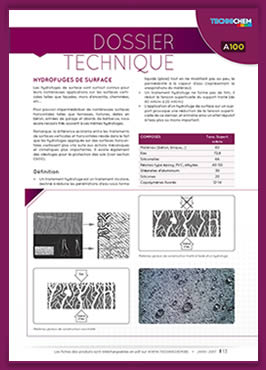 Hydrofuge de surface - Dossier technique TECHNICHEM