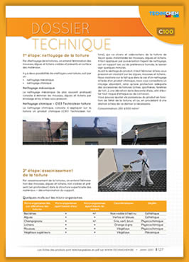 Antimousses et rénovation de toitures - Dossier technique TECHNICHEM