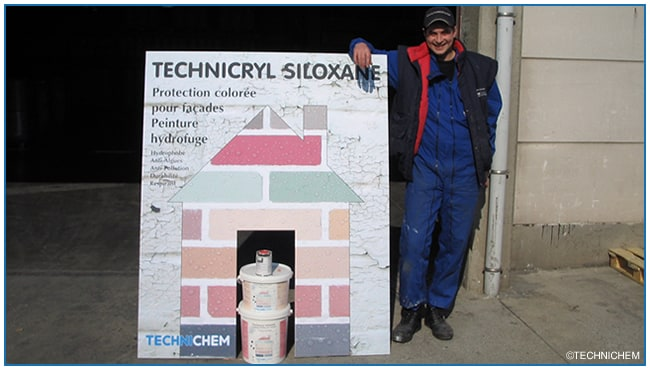 TECHNICHEM avant : Commercialisation technicryl siloxane