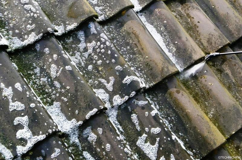 Antimousse non corrosif pour toitures terrasses et murs - Produit pour nettoyage toiture tuiles ...